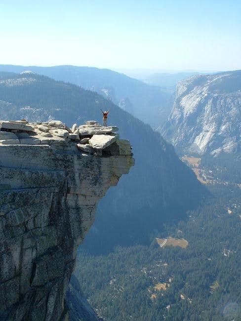 Gail on Half Dome...