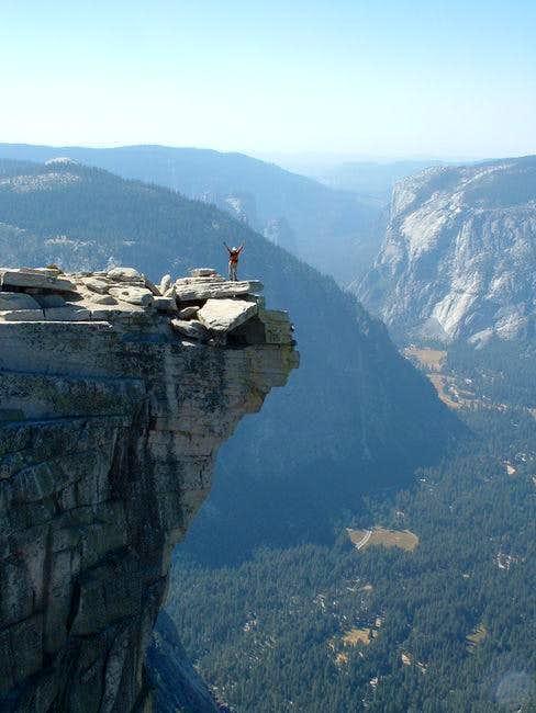 Gail on Half Dome...