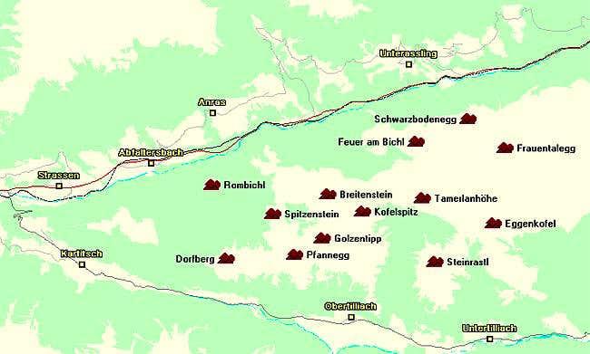 Map of the Eggenkofel...