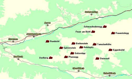 Map of the Eggenkofel...