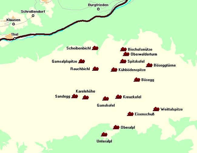 Map of the Spitzkofel -...