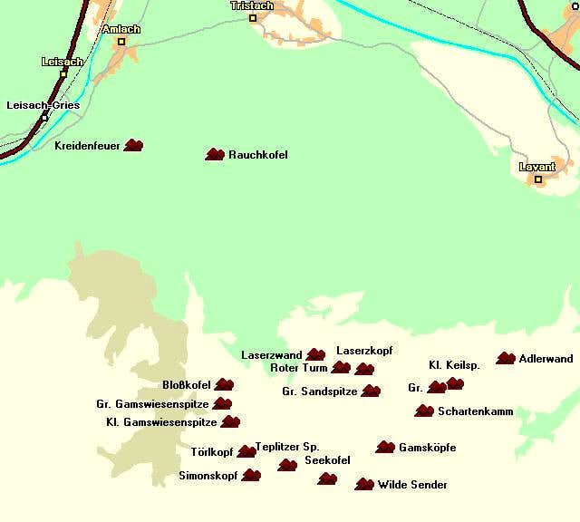 Map of the Laserz Group of...