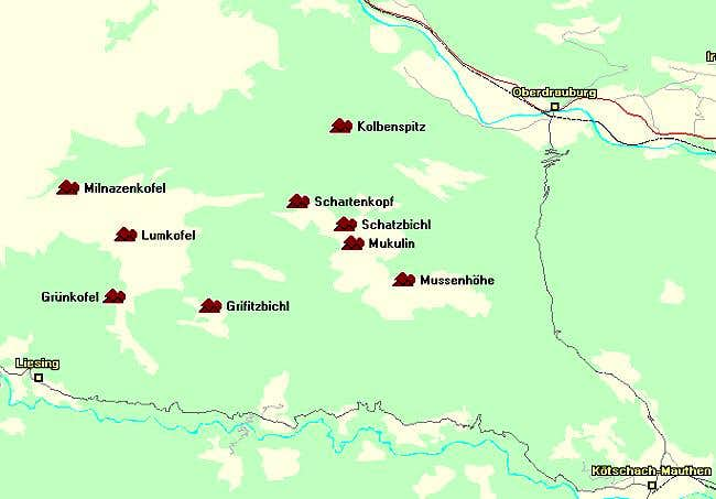 Map of the Lumkofel Group of...