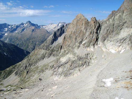 Aiguille Dibona seen from the end of pitch 5