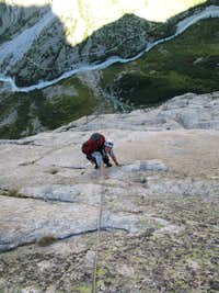 Climbing the last pitches