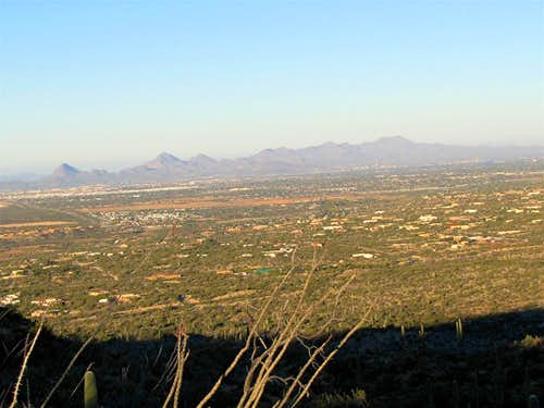 Wasson Peak & the city of Tucson