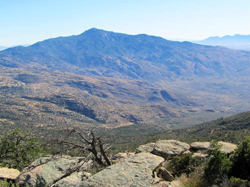 Mica Mountain from the summit of Tanque Verde Peak