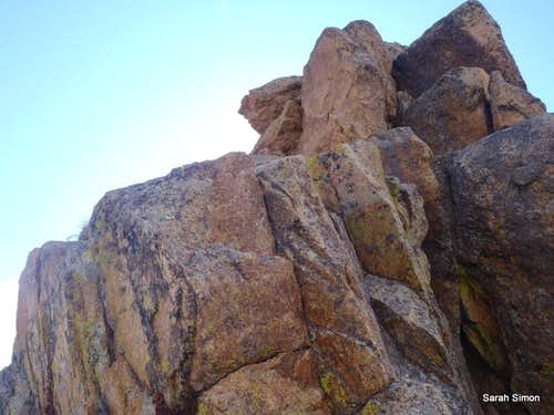 North ridge boulders