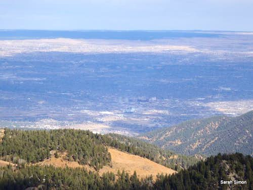 Colorado Springs from summit