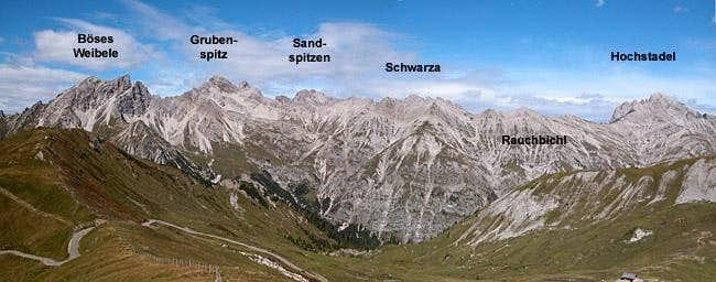 The Hochstadel Ridge seen...