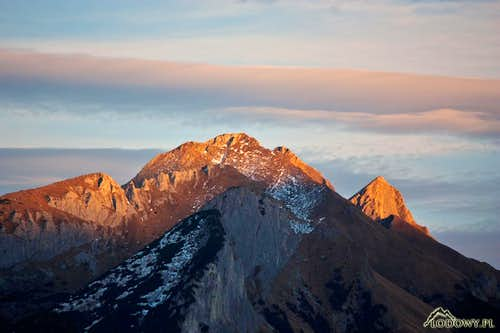 White Tatras at sunset