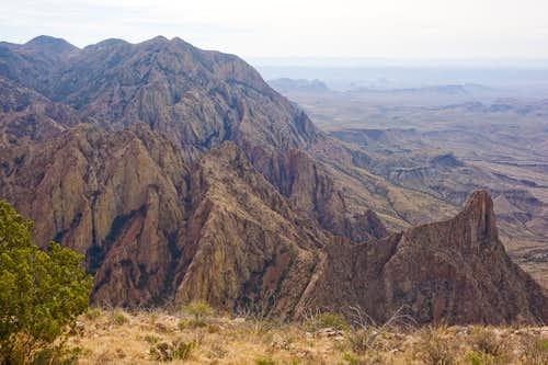 Ward Mountain, Cattail Canyon, & Carter Peak from Vernon Bailey Summit