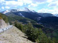 Pedraforca from road between...