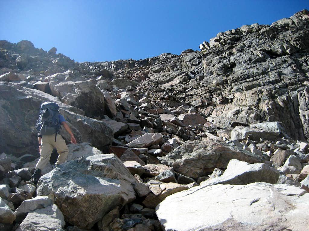 Scrambling on Princess Lake Peak
