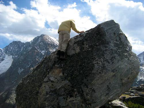 On the boulder