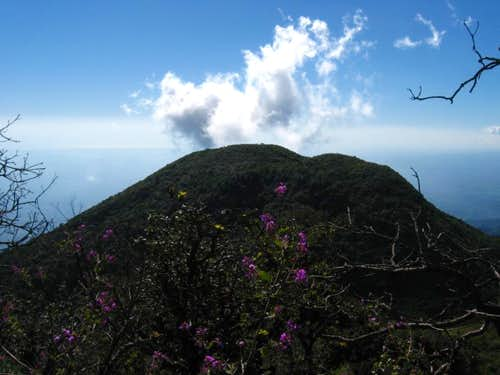 Twin summit of San Vicente Volcano