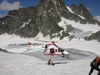 Helicopter rescue on Tete de  Valpelline
