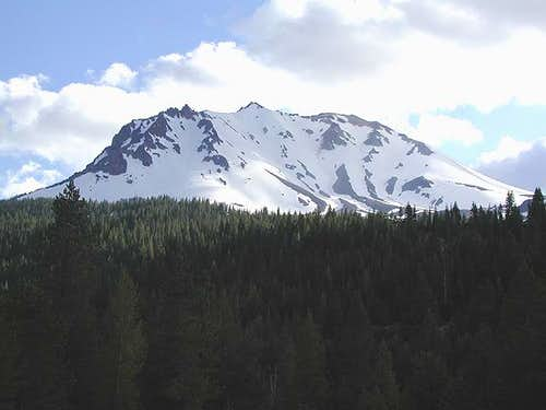 Lassen Peak's NE Face on June...