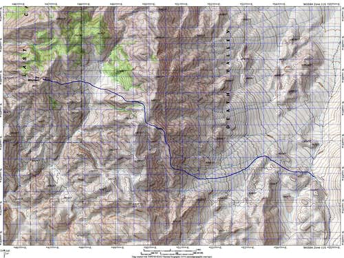 Dry Mountain Route Map