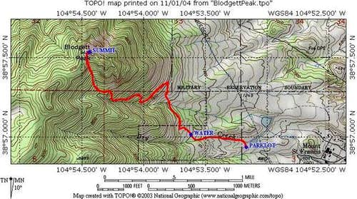 Topo map of the Open Space...
