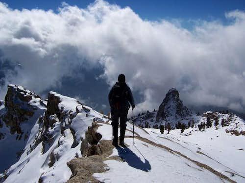 Vendula on the summit of Alta...