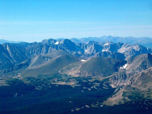 The Indian Peaks from Mount Meeker