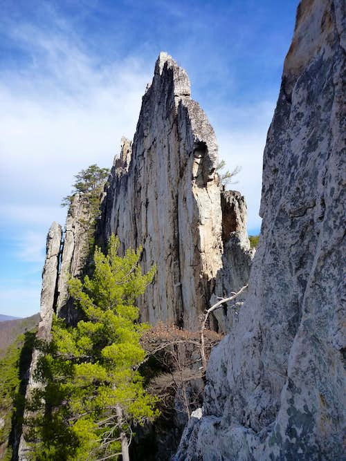 View of the Bell Wall from Tomato's Belay Station