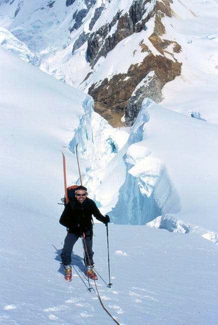 Climbing Pisco. June 2003...