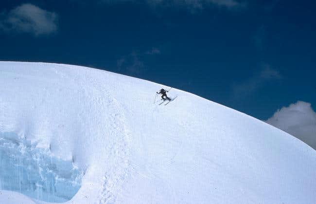 Skiing Pisco, close below the...
