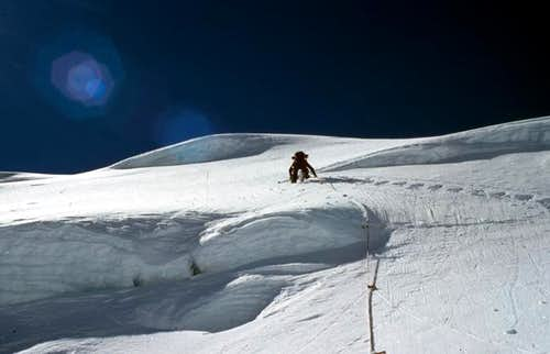 Climbing less known S-Face of...