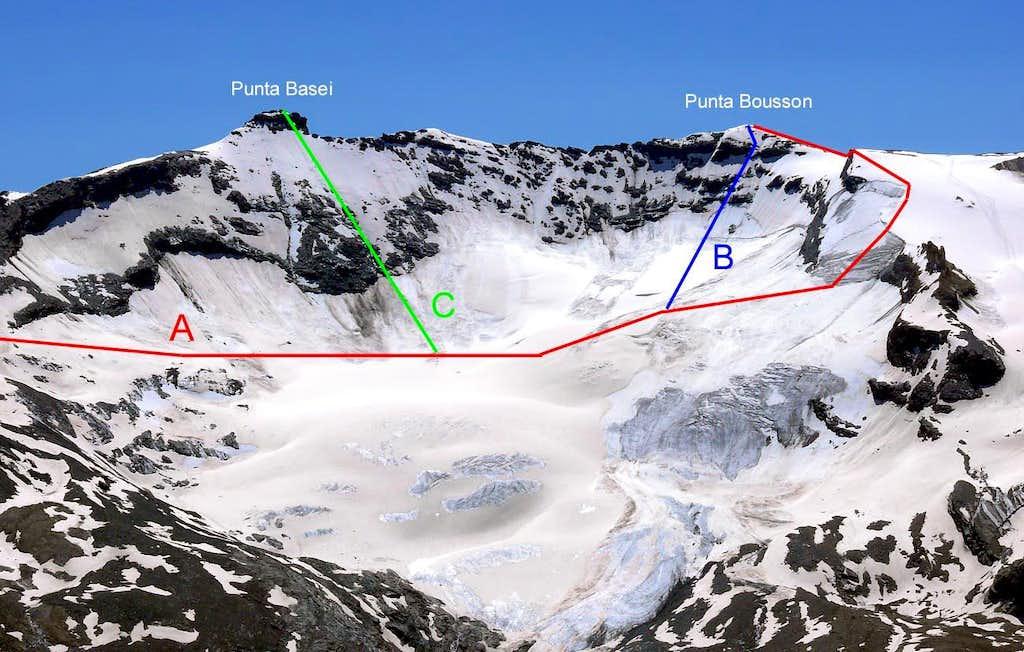 Punta Bousson Routes