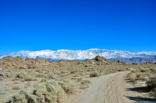 Inyo Mountains seen from Southern Alabama Hills