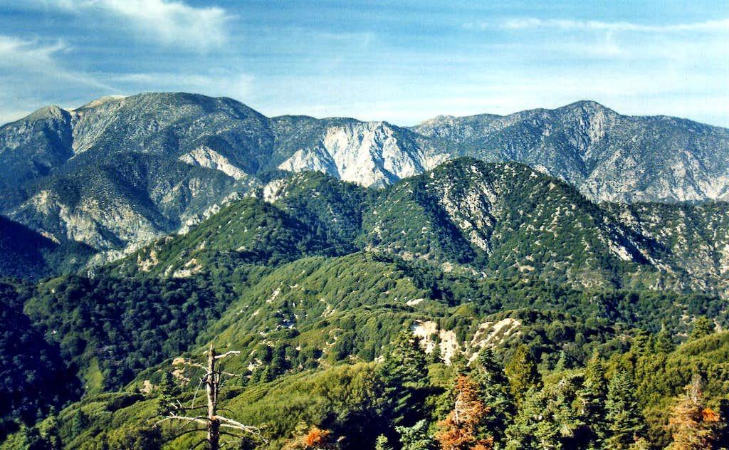 San Gorgonio Mtn. and Ten Thousand Foot Ridge from Kitching Peak