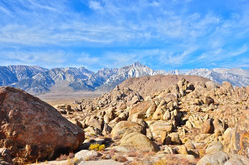 High Sierra seen from Southern Alabama Hills