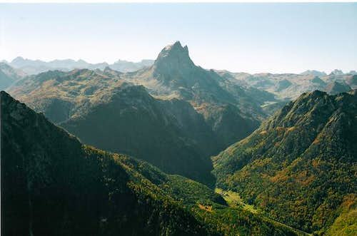 Valley of Ossau and Pic du...