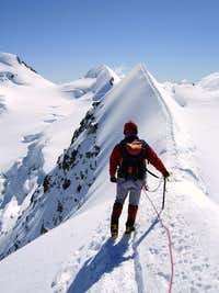 Eastern Lyskamm summit East Ridge