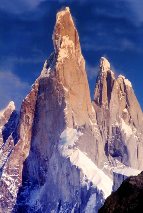 Cerro Torre seen from Torre Glacier
