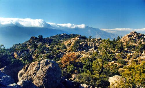 San Jacinto Mountains from Asbestos Mountain