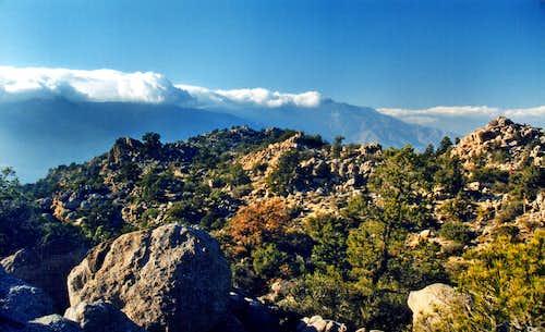 San Jacinto Mountains from Asbestos Mountain