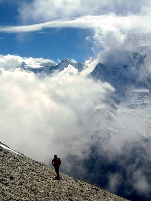 Annapurna Group - Rising towards Pisang Peak upper Camp