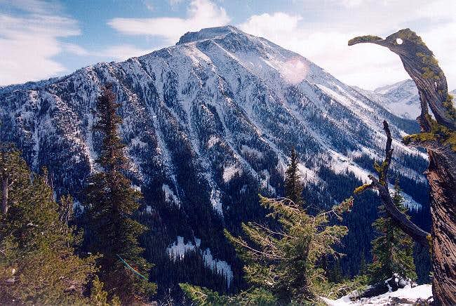 Oval Peak from the NNW (from...