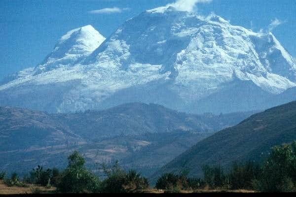 Huascaran Sur (right) and...
