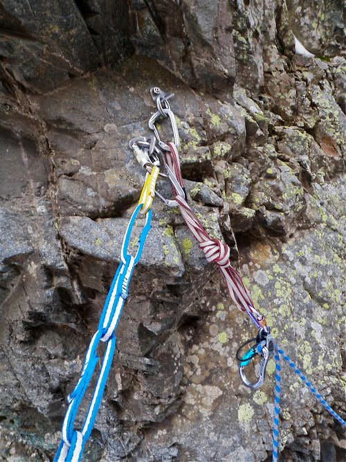 Fixed anchors - top of 2nd pitch