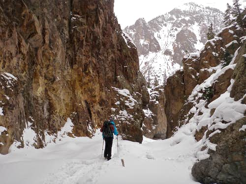 Narrow winding canyon