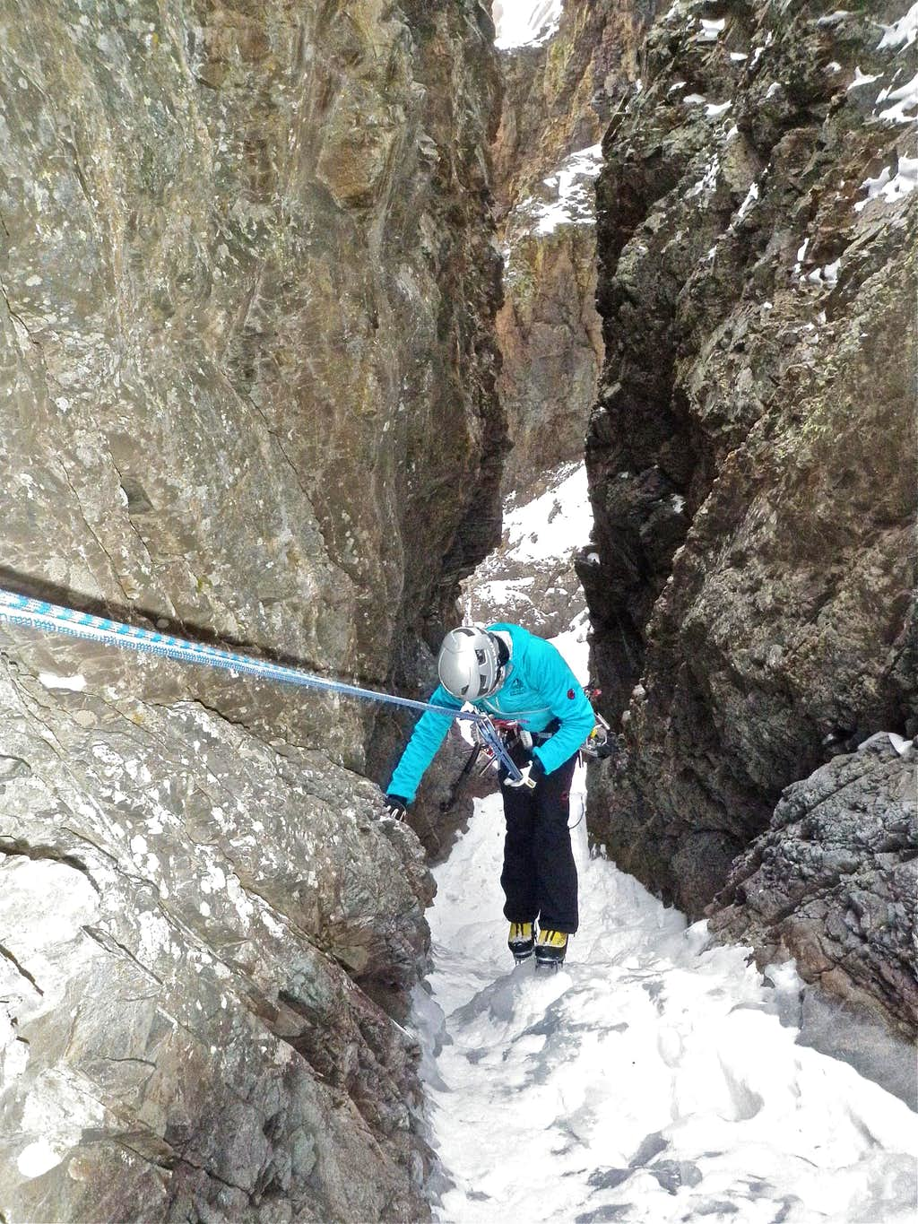Rappel Anchors on the 2nd pitch
