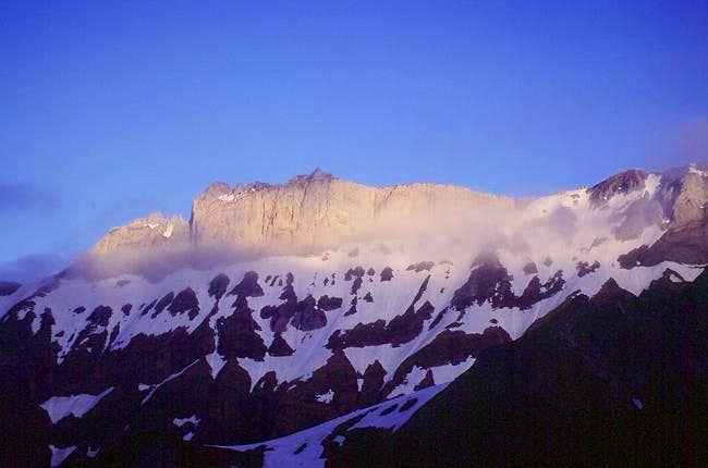 The opposite ridge seen from...