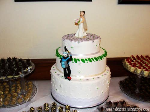 A mountaineer`s wedding!