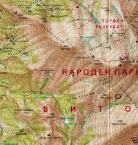 Map of Vitosha Mountain (Part...