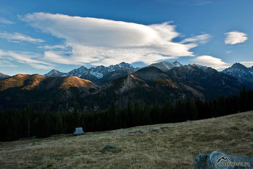 High Tatras from Rusinowa Polana