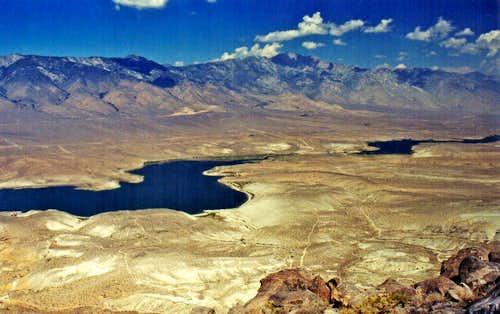 Haiwee Reservoir and southeastern Sierra scarp
